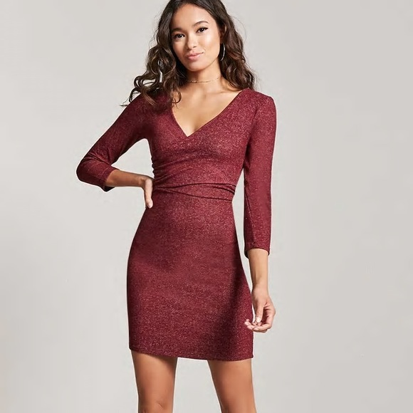 Forever 21 Dresses & Skirts - Forever 21 • Marled Surplice Dress •